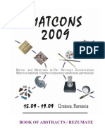 Book of Abstracts Matcons 2009