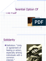 The Preferential Option of the Poor-Mod