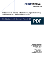 Independent Tribunal Into Forced Organ Harvesting of Prisoners of Conscience in China
