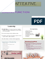 Chapter Five Leadership