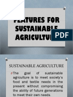Features for Sustainable Agriculture