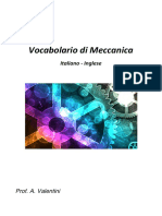 Prof. a. Valentini Vocabolario Di Meccanica