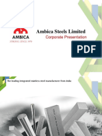 Corporate Presentation Ambica Steels Limited