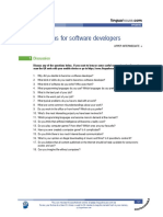 Questions for Software Engineers