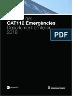 Memòria telèfon 112 (2018)