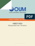 HBEF1503 Masyarakat Dan Tamadun CDec13