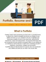 Workshop on Resume, Portfolio, Interview