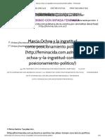 Ochoa Marcia y La Ingratitud Como Posicionamiento Político - Feminacida