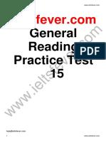 General Reading Practice Test 15 PDF