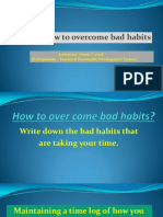 6.1 - How to Overcome Bad Habits