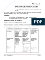 Ejemplo de Operacionalización de Variables 22018