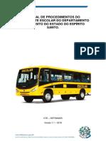 Manual de Procedimentos - Transporte Escolar. Versão 1.1.