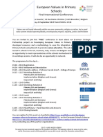 flyer eu values - closing dissemination event