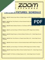 Tnpl 2019 Fixtures