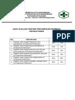 Hasil Evaluasi Penyampaian Info Pd Pasien