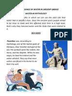 Water in Greek Mythology