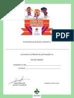 Dia Do Amigo Certificado Participante
