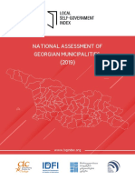 NATIONAL ASSESSMENT OF GEORGIAN MUNICIPALITIES (2019)