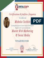M. Cicchitti Certificato di Profitto e Frequenza