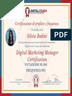 S. Bodini Certificato di Profitto e Frequenza
