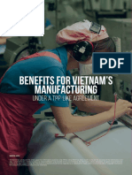 Benefits for Vietnam's Manufacturing Under a TPP-like Agreement
