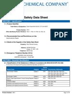 SDS for Sodium Hypochlorite Solution, 2.5%