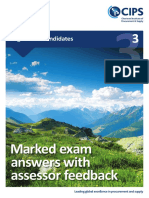 Marked Exam Answers With Assessor Feedback