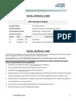 AVID Travel Approval Form 20162804 0.2