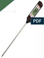 Termómetro digital para concreto