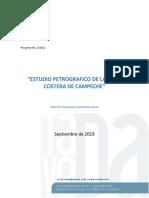Estudio Petrografico en La Zona Costera de Campeche