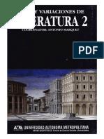 Tema y variaciones de Literatura 2
