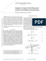 Helicopter Adaptive Control With Parameter Estimation Based on Feedback Linearization