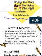 Lesson 1 Identifying the Place Value and Value of Four to Five Digit