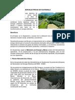 Hidroelectricas en Guatemala