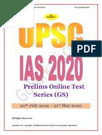 UPSC Test Series 2020