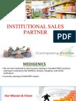 Institutional Sales Presentation