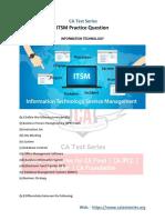 IT Service Management (ITSM) Practice Questions 2019 - PDF