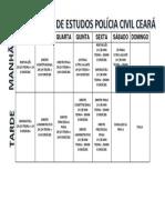 Cronograma de Estudos Pc Edital 2014-1