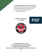 Proyecto Investigativo Constitución de 1991 y Marco Jurídico Para La Paz en Colombia