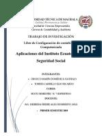 Aplicacion Al IESS - Orozco Domenica and Torres Ricardo 6to a Contab Vespertina
