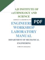 233814041 Engineering Workshop i Lab Manual 1st Year