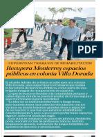 19-07-19 Recupera Monterrey espacios públicos en colonia Villa Dorada