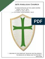 6 Pentecost Year C   21 July @ 9 & 11