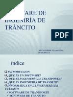SOFTWARE DE INGENIERÍA DEL TRÁNSITO
