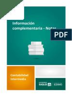 Información Complementaria - Notas