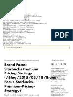 Brand Focus_ Starbucks Premium Pricing Strategy