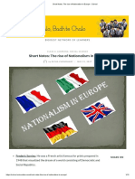 Short Notes_ the Rise of Nationalism in Europe - School