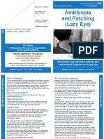 Amblyopia Patching Lazy Eye