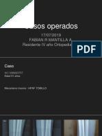 Casos Operados Fractura Pilon Tibial Por Proyectil Arma de Fuego Placa Antideslizante 16 07 2019