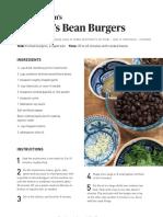 Mark Bittman's McBitty's Bean Burger Recipe